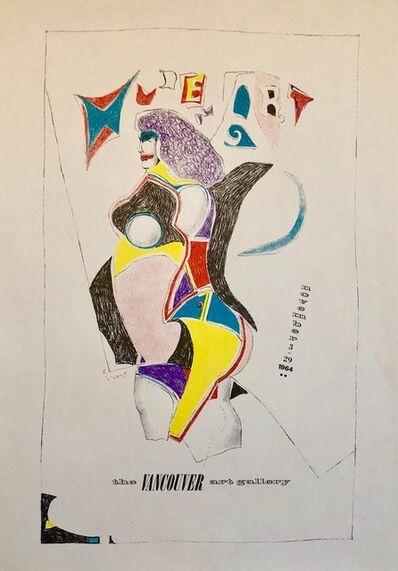 Richard Lindner, 'Vintage Modern Lithograph Poster 1960s Pop Art Mod Figure', 1960-1969