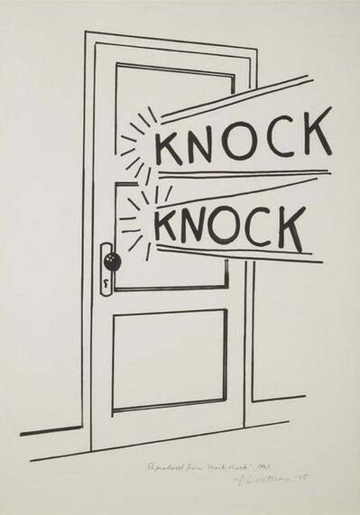 Roy Lichtenstein, 'Knock Knock, 1975', 1975