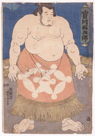 Utagawa Yoshitora, 'The sumō wrestler Takaragawa Ishigorō', about 1850