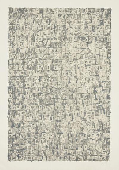Jasper Johns, 'Gray Alphabets', 1968