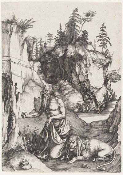 Albrecht Dürer, 'St. Jerome Penitent in the Wilderness', 1496