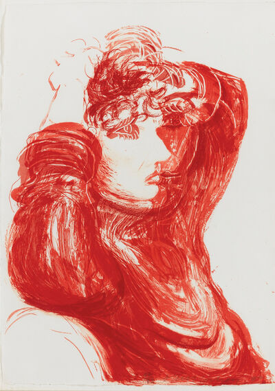 "David Hockney, 'Red Celia, from ""Moving Focus"" series', 1984"