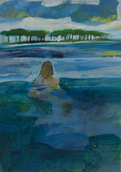 Ellen Langford, 'Swimming to the Barrier Island', 2019