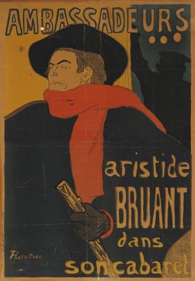 Henri de Toulouse-Lautrec, 'Ambassadeurs, Aristide Bruant dans son cabaret', 1892