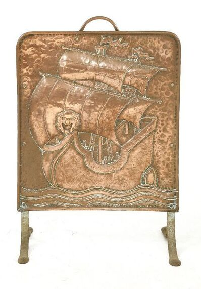 John Pearson, 'An Arts and Crafts copper fire screen'
