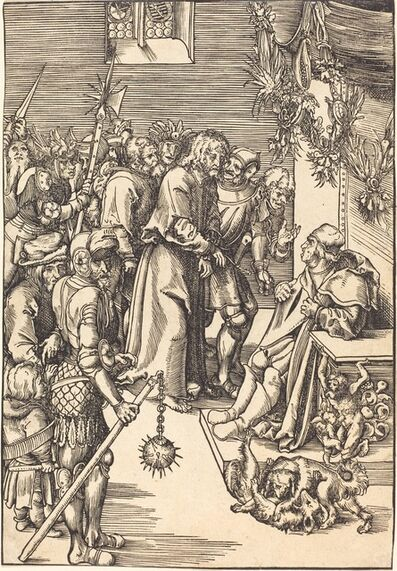 Lucas Cranach the Elder, 'Christ before Caiaphas'