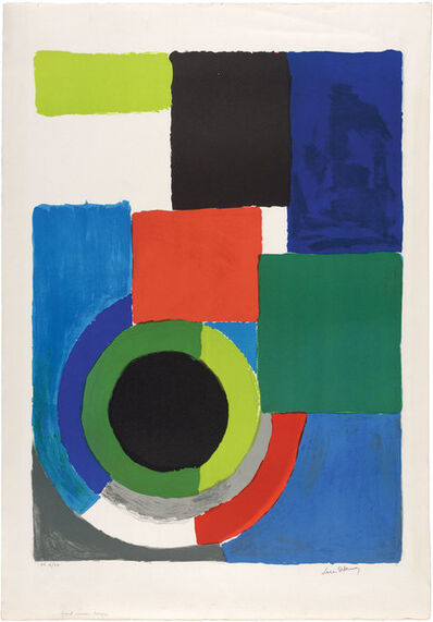 Sonia Delaunay, 'GRAND CARRÉ ROUGE', circa 1970