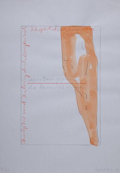Franz Erhard Walther, 'dem Bau gegenüber, die Form ist innen ', 1991