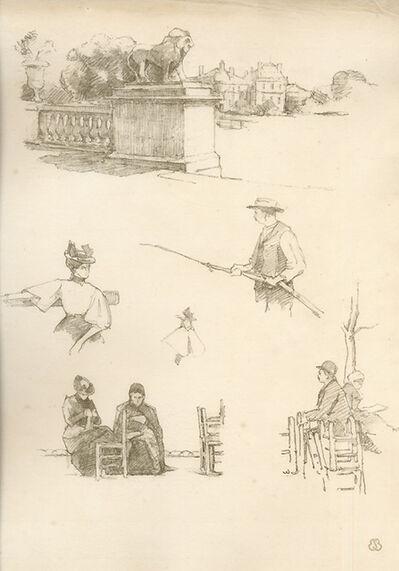 """Eugène Bejot, 'A Paris. """"Squares et jardins"""". Croquis lithographiques par Eugène Béjot.', 1896"""