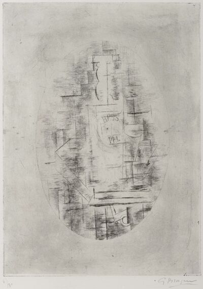 Georges Braque, 'Pal (Bouteille de bass et Verre sur une table)', Conceived in 1911-printed in 1954