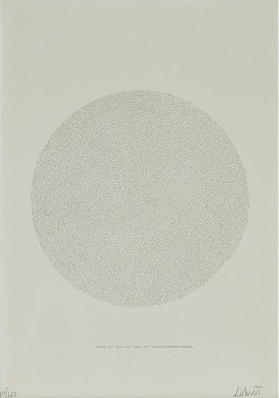 Sol LeWitt, 'Lines, Not Long, Not Heavy, Not Touching, Drawn At Random, (From Kolner Kunstmarkt)', 1970