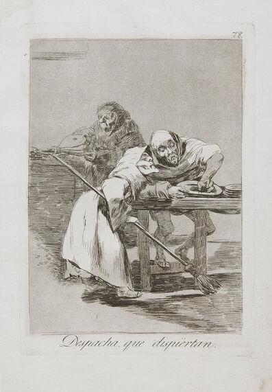 Francisco de Goya, 'Despacha,Que Dispiertan', 1799