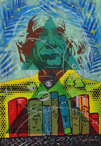 Memphis Schulze, '- p / 2 ± √ (p/2) 2 - q -  (Da lachen ja die Bücher)', 1989