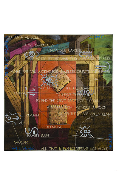 Imants Tillers, 'Breakfast Epiphany (with 9 panels by Michael Nelson Jagamara)', 2014