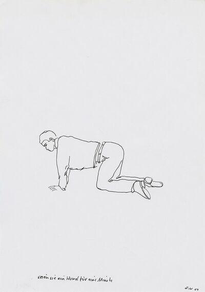 Erwin Wurm, 'Seien Sie ein Hund für eine Minute (Be a Dog for a Minute)', 2003