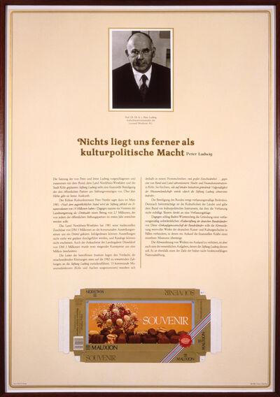 Hans Haacke, 'Der Pralinenmeister', 1981
