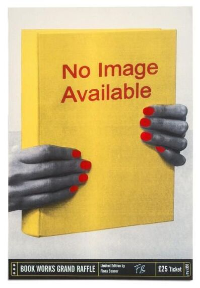 Fiona Banner, 'No Image Available (Raffle Ticket Edition)', 2018