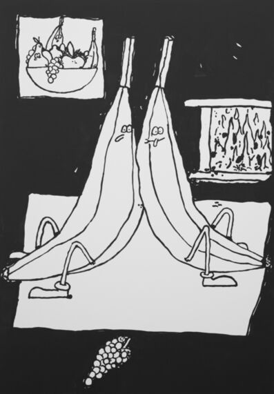 Stefan Marx, 'Bellevue Bananas at the Livingroom', 2017