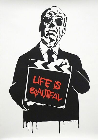 Mr. Brainwash, 'Alfred Hitchcock (Red)', 2009
