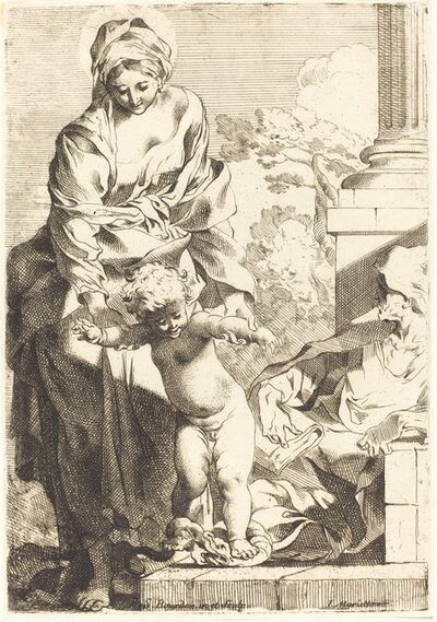 Sébastien Bourdon, 'The Christ Child Trampling on Sin'