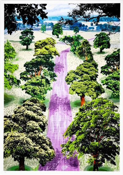David Hockney, 'Summer Road Near Kilham ', 2008