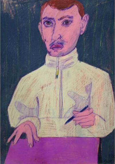 Igor Moritz, 'Self Portrait with a purple page', 2020