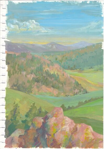 CHARIS J. CARMICHAEL BRAUN, 'Study: Pink Boulder And The Valley', 2018