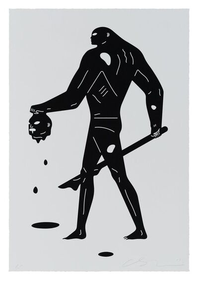 Cleon Peterson, 'Headless Man (Black & White)', 2019