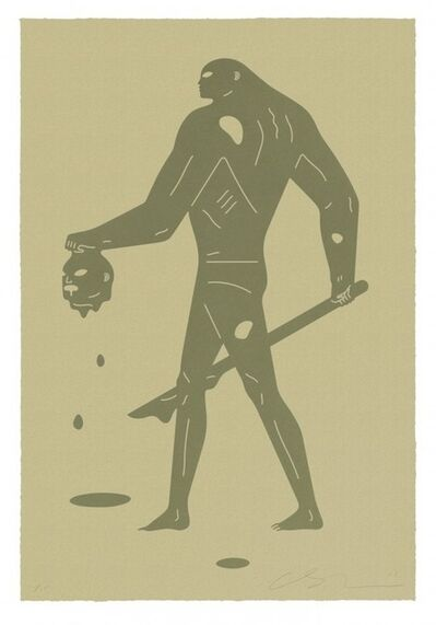 Cleon Peterson, 'Headless Man (Gold on Gold)', 2019