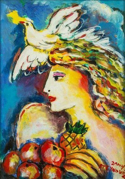 Zammy Steynovitz, 'Dove of Peace, Bounty of Fruit Original Oil by Zamy Steynovitz', 20th Century