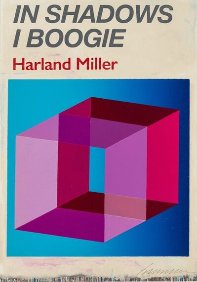 Harland Miller, 'In Shadows I Boogie (Blue)', 2019