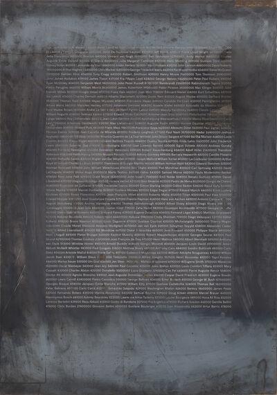 Sergen Şehitoğlu, ' Variation No1 - 310 Artist Portraits', 2017