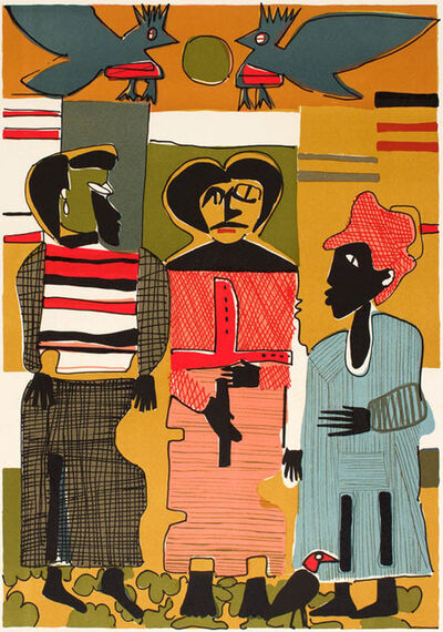 Romare Bearden, 'FIREBIRDS', 1979