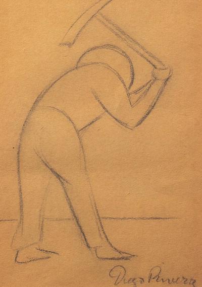 Diego Rivera, 'Travailleur à la faux (Campesino con pico)'
