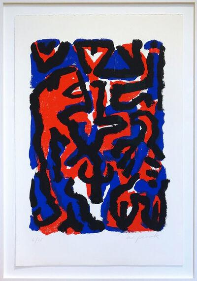 A.R. Penck, 'Tanz mit dem Löwen', 1996