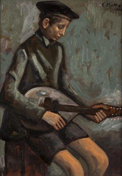 Emilio Notte, 'Giovane Con Mandolino', 1938