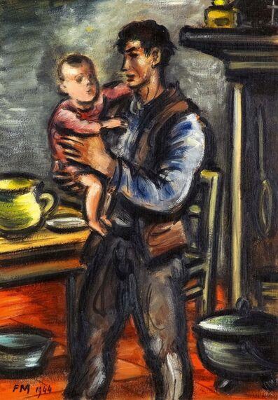 Frans Masereel, 'Bauer mit Kind', 1944