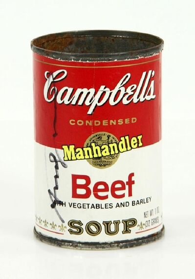 Andy Warhol, 'Campbell's Soup Can (Hand Signed by Andy Warhol at Fiorucci's for the ACE Gallery)', 1978