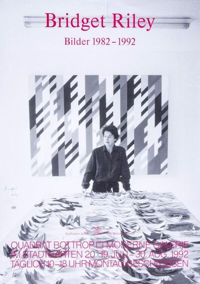 Bridget Riley, 'Bilder 1982 - 1992 Exhibition Poster', 1992