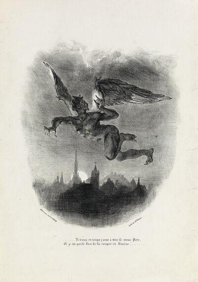 Eugène Delacroix, 'Méphistophélès dans les airs.', 1828