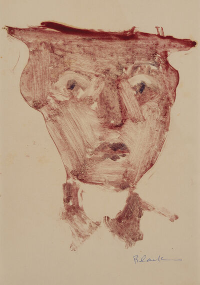 Charles Blackman, 'Untitled (Man with Hat)', ca. 1953