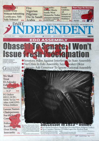 Ken Nwadiogbu, 'Headline Series (no. 4)', 2019