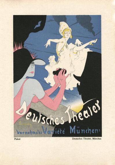 """Walter Schnackenberg, '""""Deutsches Theater"""", Kostume, Plakate und Decorationen', 1920"""