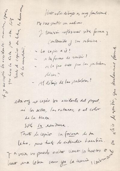 Leticia Obeid, 'Notas sobre B', 2007