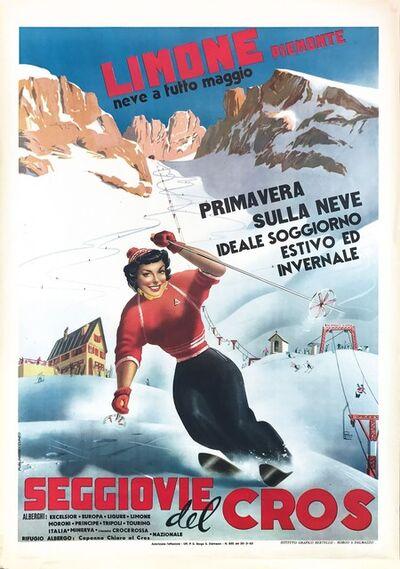 Carlo Prandoni, 'LIMONE PIEMONTE, NEVE A TUTTO MAGGIO/ SEGGIOVIE DEL CROS', 1953