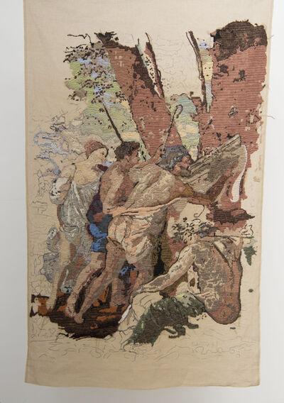 """Bertille Bak, 'Banner 3, from """"Les Bergers d'Arcadie"""", Nicolas Poussin', 2009"""