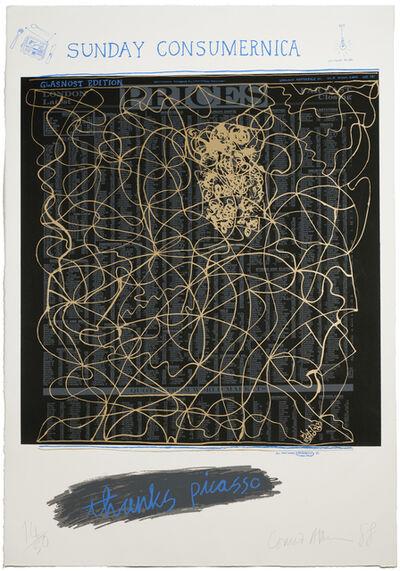 Conrad Atkinson, 'Thanx Picasso', 1988