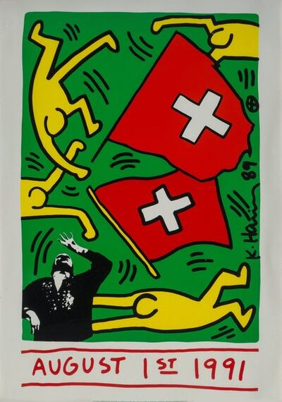 After Keith Haring, 'August 1st, 1991', 1989