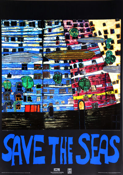 Friedensreich Hundertwasser, 'Save the Seas (Song of the Whales)', 1982