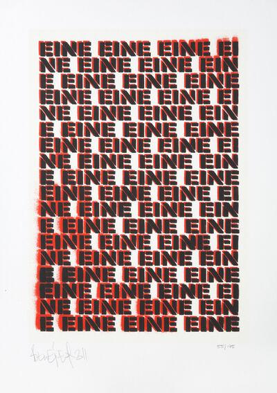 Ben Eine, 'Moniker', 2011